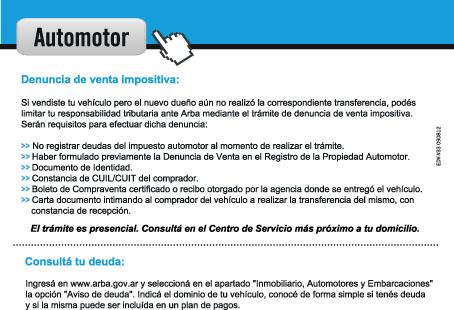 denuncia de venta automotor: