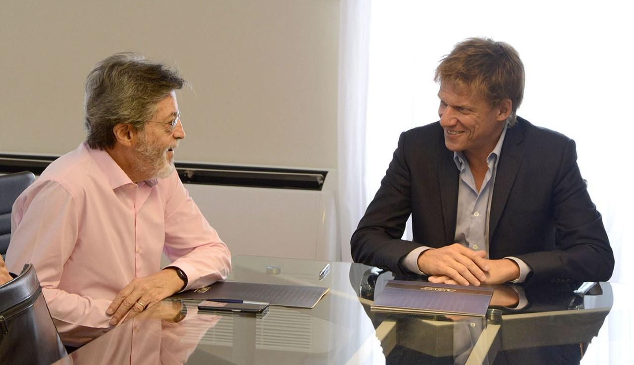 Imagen de la nota Abad y Fossati se reunieron en la sede de ARBA