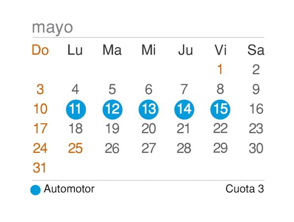 Calendario de vencimientos